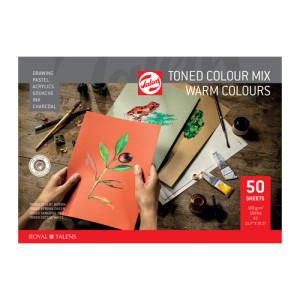 Multitechnique Pad Block Warm Colours, 180 gr, A4, 50 s.