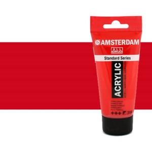 Acrílico Amsterdam n. 399 color rojo naftol oscuro (250 ml)