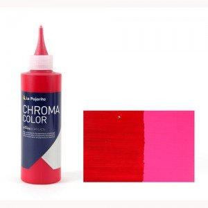 Totenart - Acrílico La Pajarita Carmín de Alizarina Chroma Color (200 ml.)