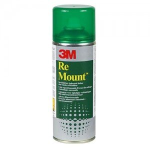 Totenart-Spray Adhesivo 3M RE MOUNT, Reposicionable, 400 ml.