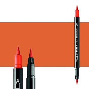 Marker double tip brush Light Orange. Aqua Brush Duo, Lyra