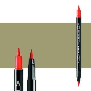 Marker double tip brush Moss Green. Aqua Brush Duo, Lyra