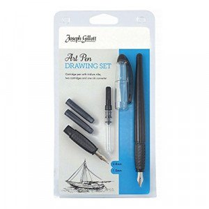 William Mitchell Art Pen Drawing Set (2 nibs with cartridges)