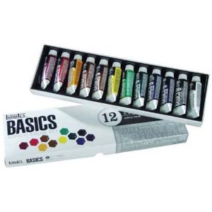 totenart-Estuche con 12 colores acrílicos Liquitex Basics (22 ml)