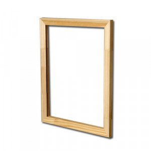 Frame without canvas 2P 24 x 16  cm. traditional thickness
