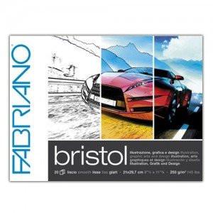 Totenart - Bloc de ilustración y diseño Bristol, Fabriano (20 hojas, 250gr 21x29.7cm)