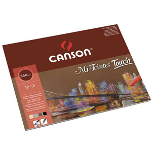Canson Mi-Teintes Touch Pad, assorted colors, 12 s. 350 gr 24x32 cm