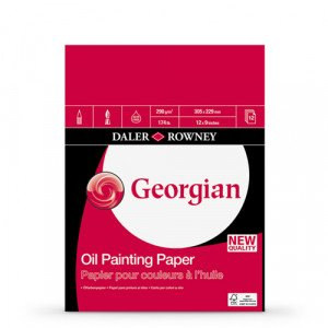 Bloc de 12 hojas de papel para óleo Daler-Rowney de 250 gr (22,9x30,5 cm)