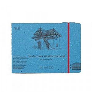 Watercolor block with bands, 12 sheets, 280 gr., 245x176 mm., SM.LT