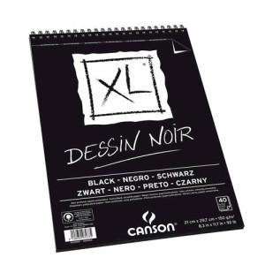 Totenart-Esbozo Canson XL Negro (Block), 40h., 150 gr., A4