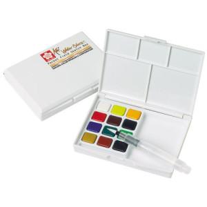 totenart-Caja Pocket Box 12 pastillas de acuarelas Sakura