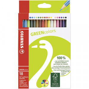 STABILO GreenColors box 18 colored pencils