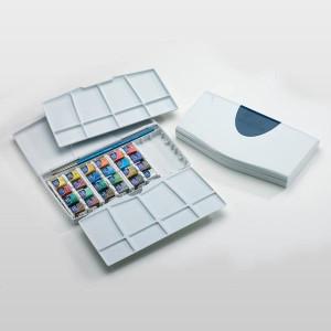 totenart-Caja con 24 acuarelas Cotman 1/2 godet y pincel Winsor & Newton