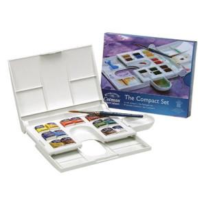 Totenart-Caja acuarela Cotman Plus 14 1/2 godets & pincel