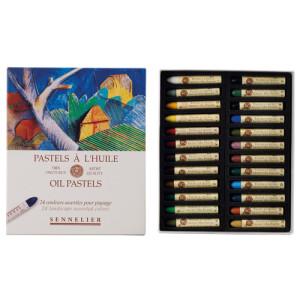 Oil pastel Sennelier box 24 colors, Landscape Set