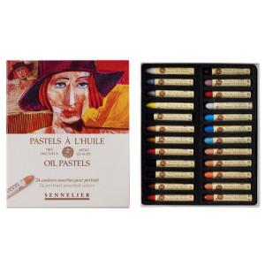 Oil pastel Sennelier box 24 colors, Portrait Set
