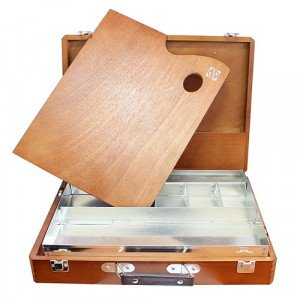 Totenart-Caja vacia Topo de Haya, medidas 31x39x7,5 cm.