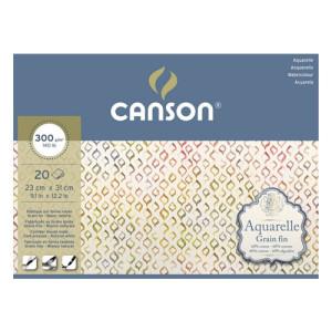 Canson Watercolour 300 gr, 25x36 cm., block 20 s.