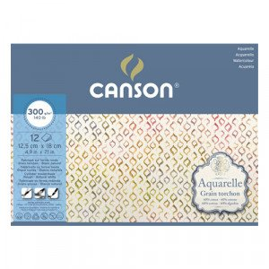 Canson Watercolour 300 gr, 25x36 cm., block 20 s. Coarse-grained