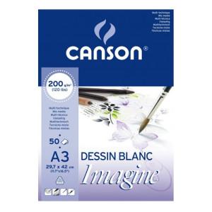 Imagine Canson Block, 29.7x42 cm, 200 gr, 50 s.