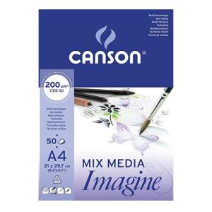 Imagine Canson Block, 21x29.7 cm, 200 gr, 50 s.