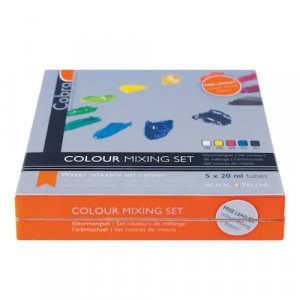Set with 5 colors oil-in-water Cobra (20 ml)