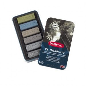 Metallic case 6 bars graphite XL Derwent