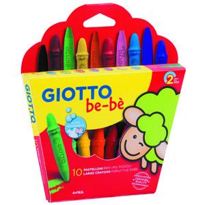 Giotto Be-Bè: Set 10 ceras + sacapuntas