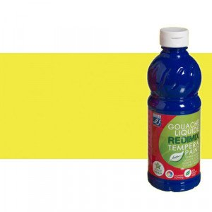 totenart-gouache-liquido-color-co-Lefranc-163-amarillo-fluorescente-bote-500-ml