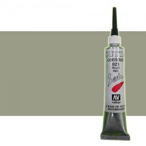totenart-Gutta contour Vallejo, Plata 20 ml