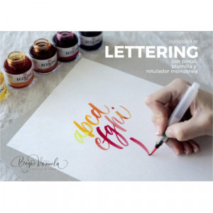 Step by Step Notebook, Initiation to Lettering with brush, pen and monoline marker, Talens (In Spanish)