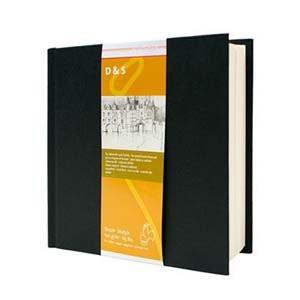 Libro de Bosquejo D&S tapa negra, 140gr, 14x14cm., 80 h
