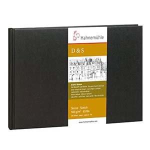 Libro de Bosquejo D&S tapa negra, 140gr, A6 P, 62 h