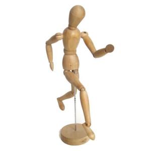 totenart-Maniqui articulado 30 cm, femenino, madera natural