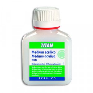 Matt acrylic medium Titan, 100 ml.