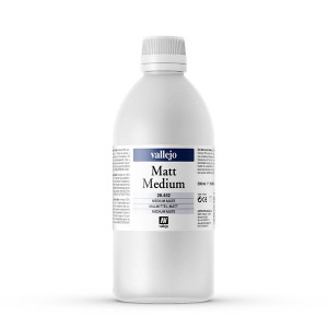 Matt acrylic medium Vallejo, 500 ml.