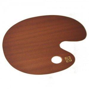 totenart-Paleta ovalada de madera barnizada Talens, 25x35 cm.