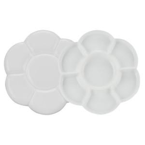 totenart-Paleta redonda doble de plastico Talens (17x17 cm)