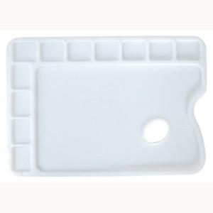 totenart-Paleta rectangular de plástico con 11 huecos 24x34 cm.
