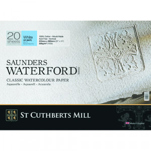 Saunders Waterford Watercolor Pad, 300 g, 51x36 cm, 20 sheets, Fine grain, Natural white