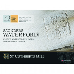 Saunders Waterford Watercolor Pad, 300 g, 51x36 cm, 20 sheets, Rough grain, Natural white