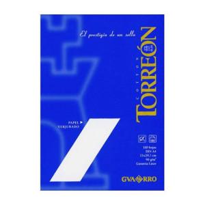 totenart-Papel Torreon blanco verjurado, 90 gr., 21x30 cm., A4