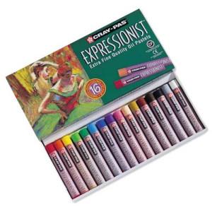 totenart-Caja pastel al Oleo Sakura Expressionist, 16 colores