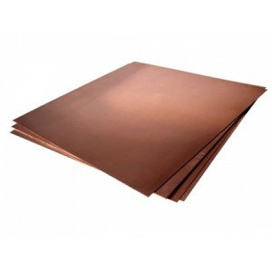 totenart-Plancha de Cobre c/ proteccion, 12,5x16,5 (1,0)