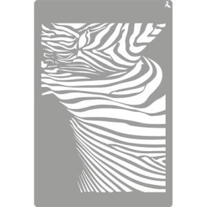 totenart-Stencil plantilla 09 Cebra 20x30cm. La Pajarita