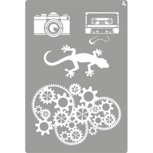 totenart-Stencil plantilla 10 Indie 20x30cm. La Pajarita
