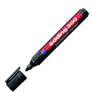 totenart-Rotulador Permanente Edding 300 Negro 01, punta 1.5-3 mm.