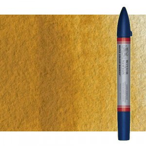 Totenart-Rotulador de acuarela Ocre Amarillo Winsor & Newton doble punta pincel