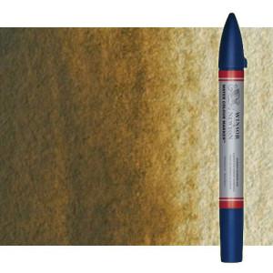 Totenart-Rotulador de acuarela Tierra de siena natural Winsor & Newton doble punta pincel