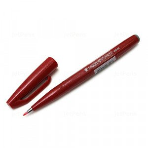 Sign Pen Brush Pentel Touch, Red